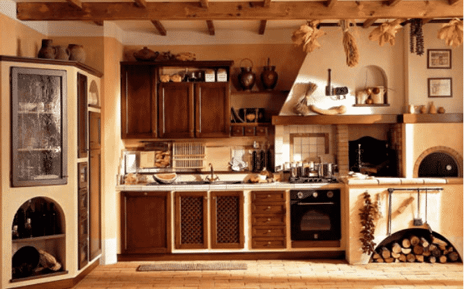 Cucina Con Forno A Legna UZ07 » Regardsdefemmes