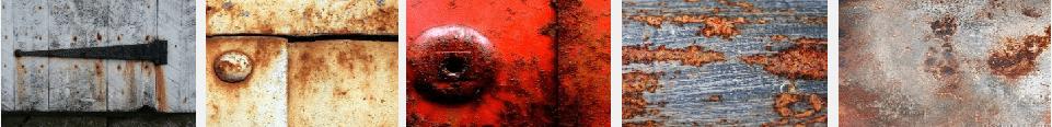 Immagini di vari tipologie di ruggine