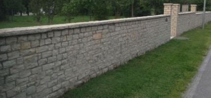 recinzione in muratura