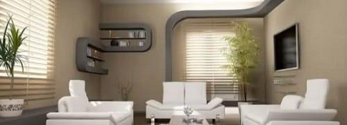 Una stanza con una parete in cartongesso