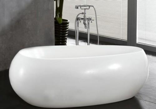 Bellissima vasca moderna arrotondata color bianco