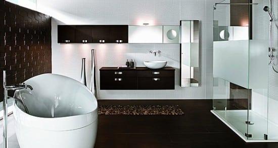 Bagno ristrutturato bianco e nero in stile moderno Blog Edilnet