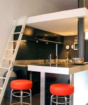 Interno di un appartamento in stile moderno nella zona cucina