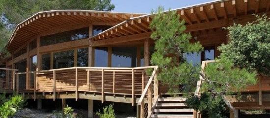 Parte esterna di Casa in legno