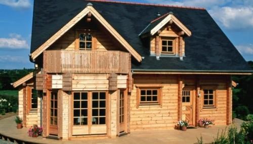 Casa in legno realizzata