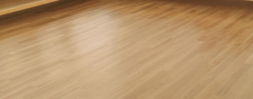 parquet su pavimento esistente posato e lucidato