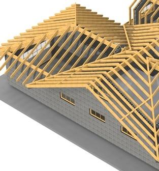 Tetto in legno in fase di progettazione