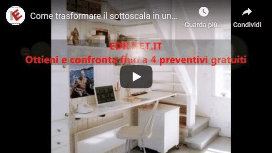 Video edilnet su Youtube di Come trasformare il sottoscala in uno studio