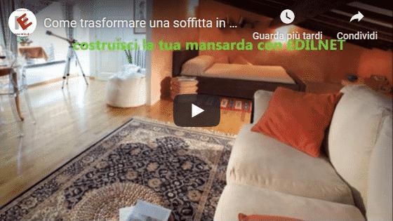 Video di come trasformare una soffitta in mansarda