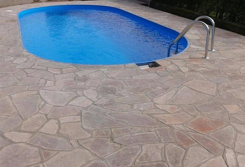 piscina realizzata e pulita