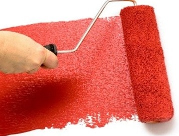 Color rosso per Pitturare con il rullo
