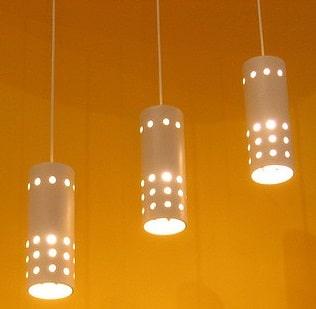 3 lampade a caduta