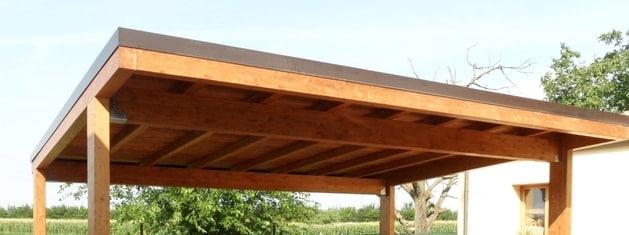 Tettoia in legno:  realizzazione e costi