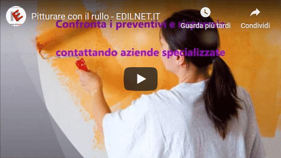 Video you tube di Edilnet per Pitturare con il rullo il materiale, le fasi e i costi