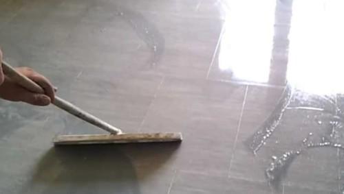 Piombatura del marmo: la stuccatura