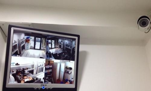 Telecamera che mostra un Impianto di videosorveglianza in funzione