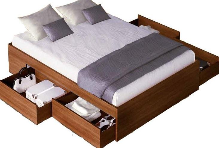 amera da letto piccola letto con cassetti