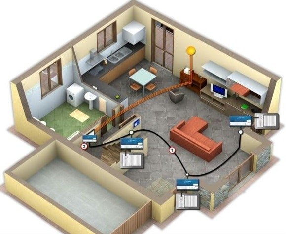Schema impianto elettrico blog edilnet for Impianto idraulico casa schema