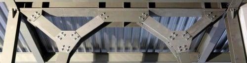 La struttura di un capannone in acciaio