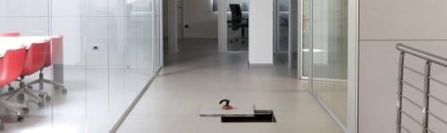 Pavimento flottante installato su zona ufficio