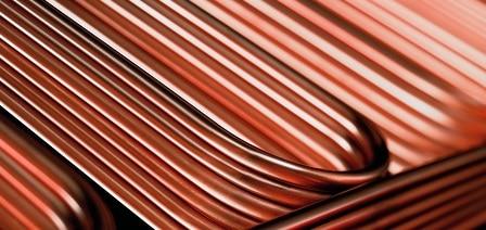 Immagine di nuovissimi tubi di rame