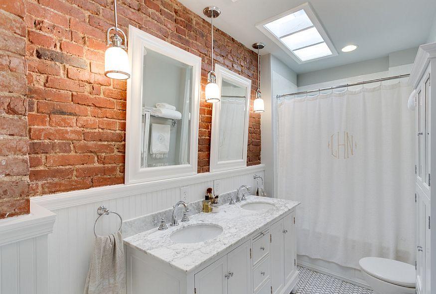 bagno in mattoni