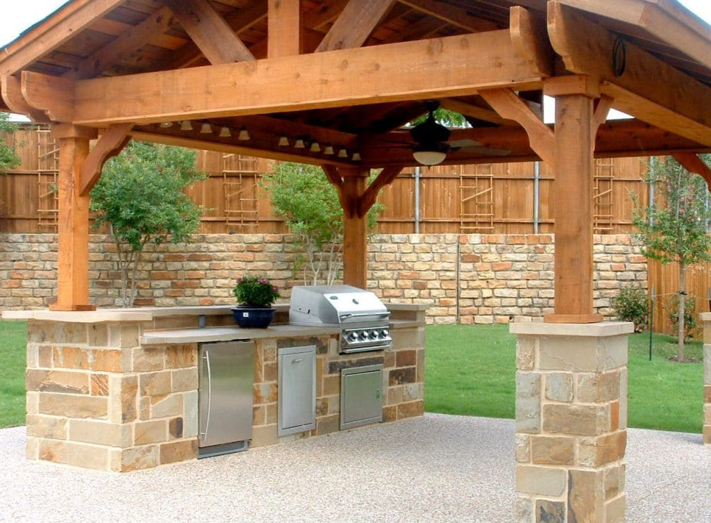 outdoor kitchen designs with pergolas costruire barbecue in muratura edilnet 7236