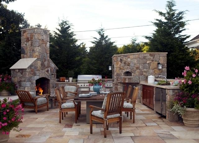 Costruire barbecue in muratura blog edilnet - Camini da esterno in muratura ...