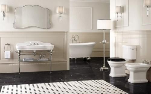 Rivestimento su bagno in stile antico