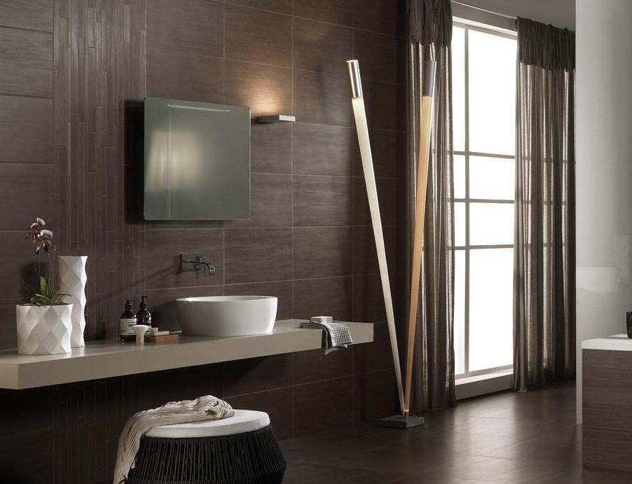 Boiserie Bagno Moderno : Composizione per bagno con boiserie laccata idfdesign