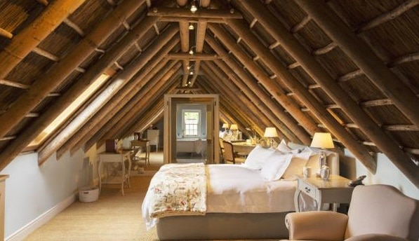 Luxury attic bedroom
