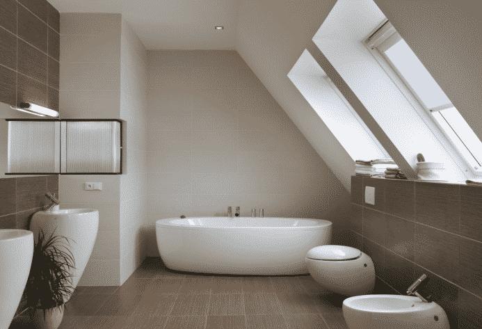 bagni moderni in mansarda