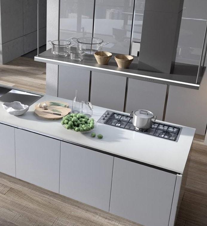 Cucine moderne con penisola op54 regardsdefemmes - Cucine con isola centrale moderne ...