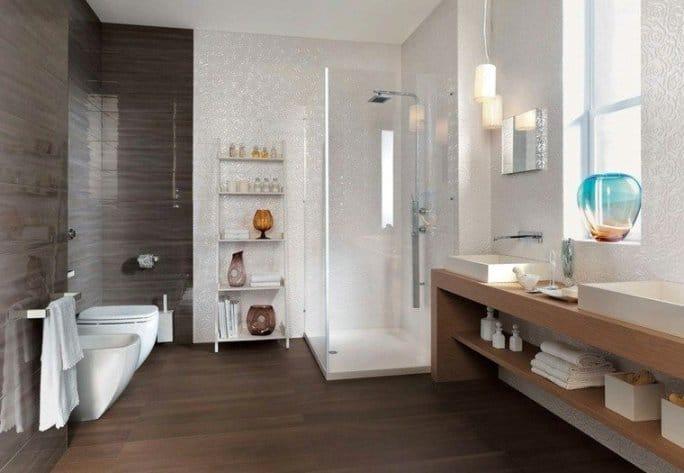 bagni moderni legno cemento
