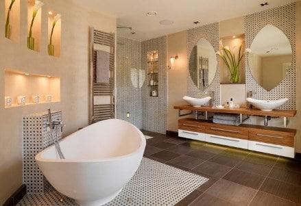 bagno moderno eclettico