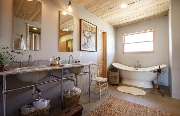 bagno moderno shabby vintage