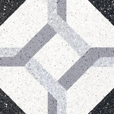 Foto di pavimento in ceramica bianco e nero
