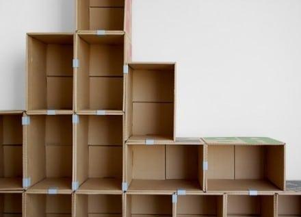 libreria in cartone