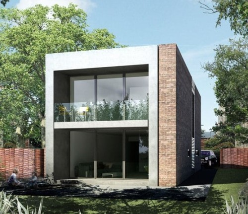 Una casa prefabbricata in muratura realizzata