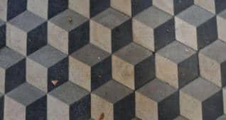 disegno geometrico pavimento esterno
