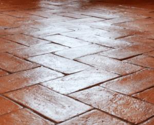 pavimento in cotto lucidato