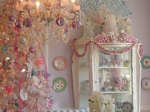 Shabby Chic Natale : Albero di natale shabby chic come decorarlo edilnet