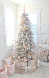 albero di natale shabby total white