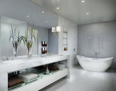 bagno di lusso bianco