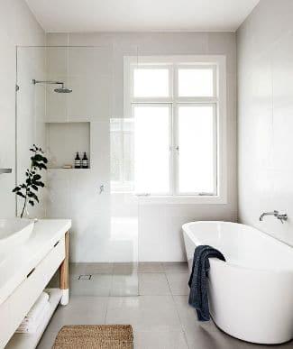 bagno piccolo minimal
