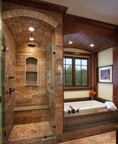 doccia in muratura stile rustico
