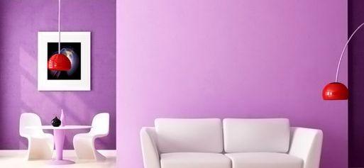 pittura pareti lilla