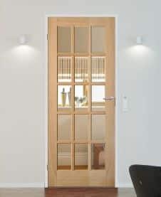 porta interna in legno e vetro