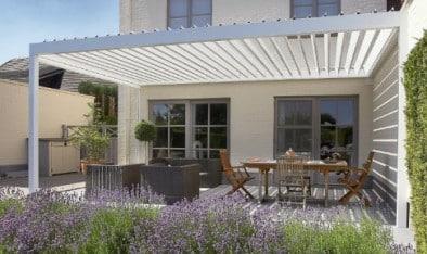 Veranda aperta esterna in alluminio