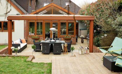 Veranda aperta legno lamellare